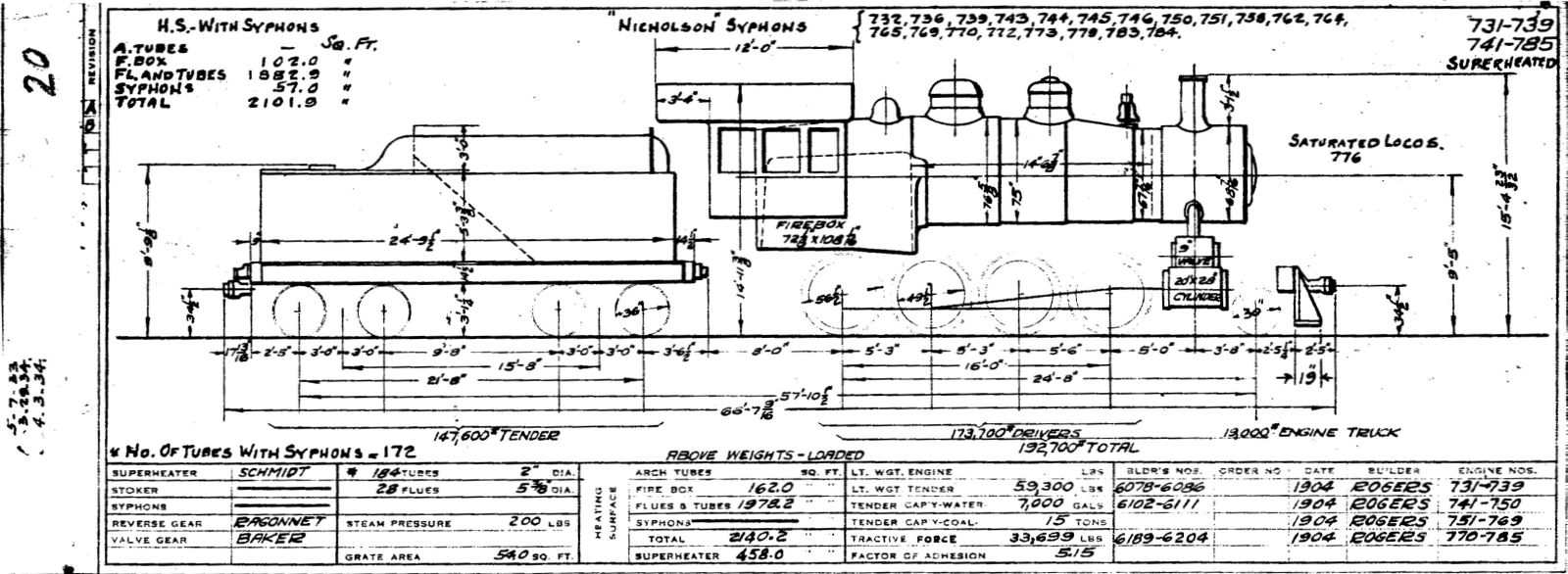 illinois central 1937 locomotive diagrams