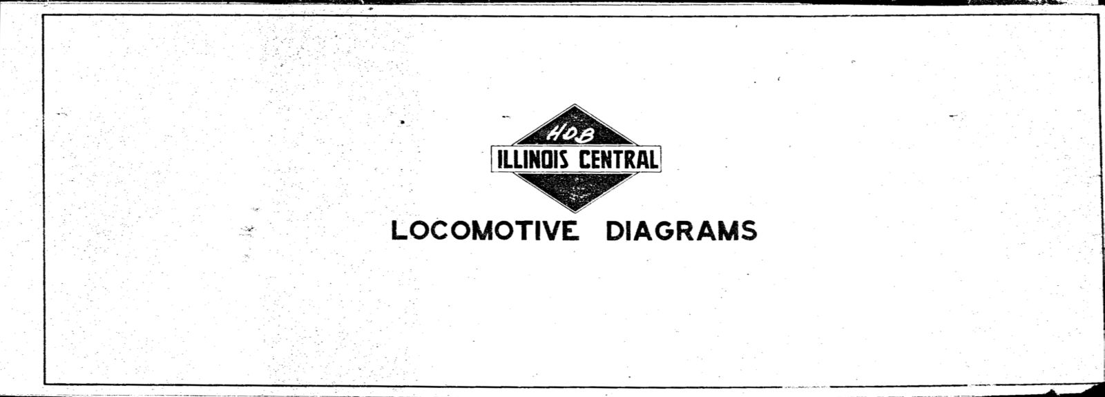 illinois central 1955 locomotive diagrams